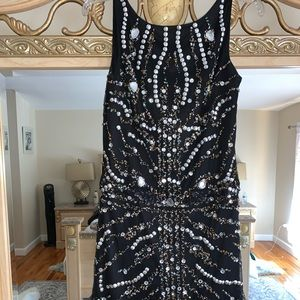 Black beaded dress!!! Wore to party once !!